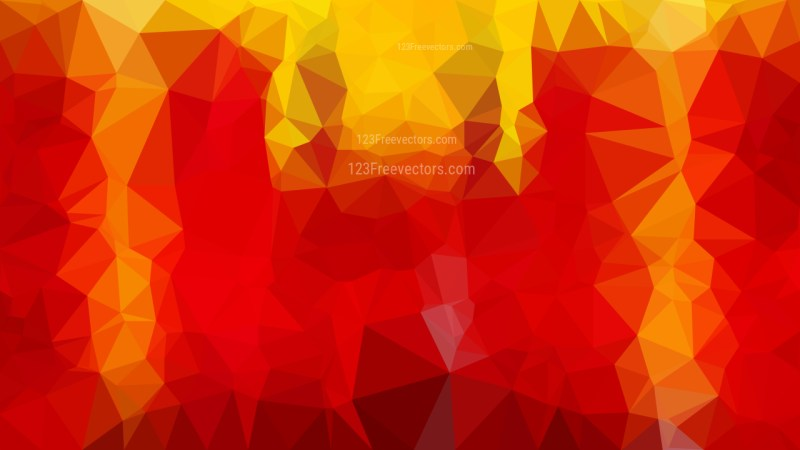 Red and Yellow Low Poly Background Template