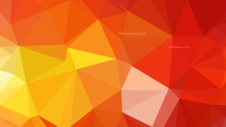 Abstract Red and Yellow Low Poly Background Template