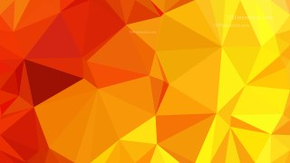 Abstract Red and Yellow Polygonal Triangular Background Vector Illustration