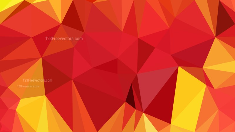 Red and Yellow Polygonal Background Design