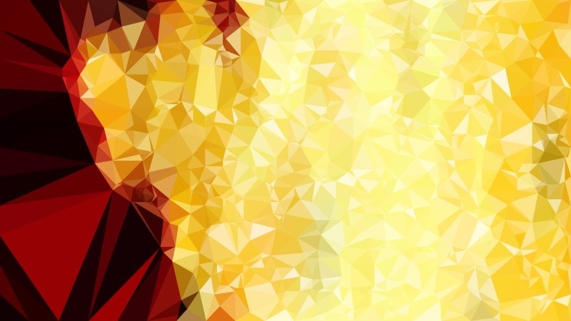 Red and Yellow Polygon Abstract Background Vector Graphic