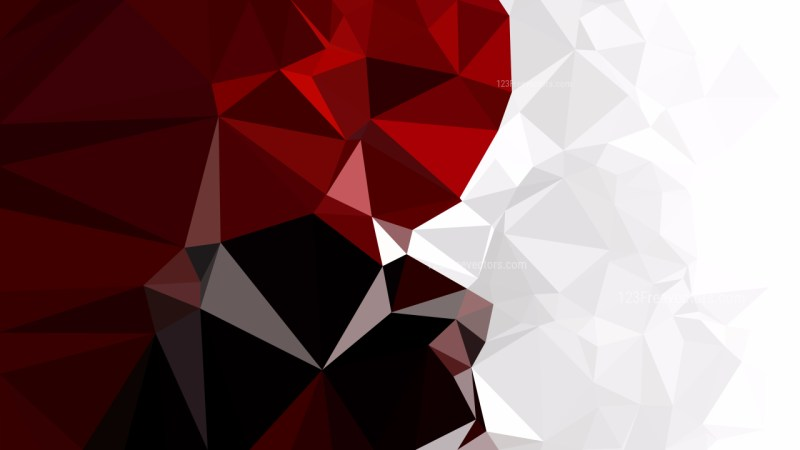Red Black and White Polygon Pattern Abstract Background Vector Image