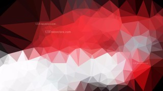 Red Black and White Geometric Polygon Background Vector