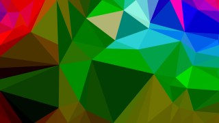 Red Green and Blue Polygon Background Vector