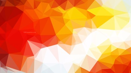 Red White and Yellow Polygon Background Design Vector