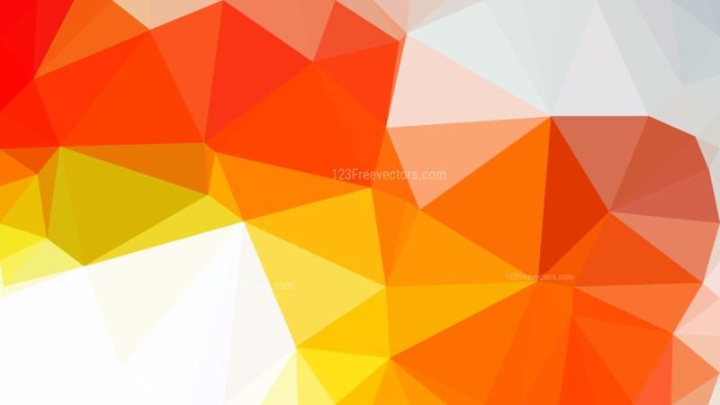 Red White and Yellow Low Poly Background Design Graphic