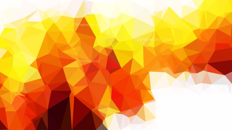 Red White and Yellow Polygon Background Template