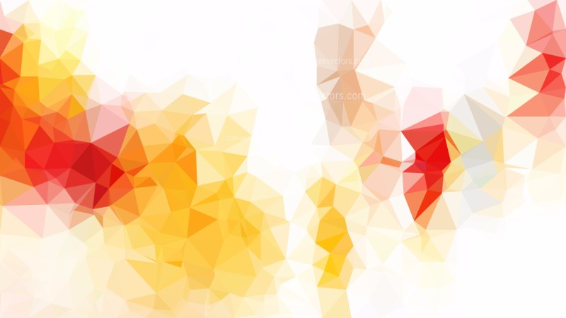 Abstract Red White and Yellow Triangle Geometric Background Vector