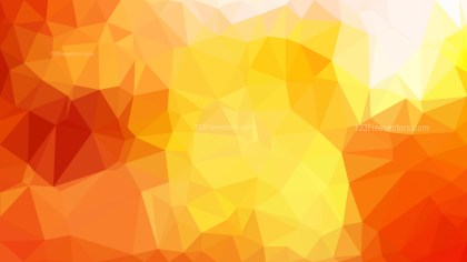 Abstract Red White and Yellow Polygon Background Vector