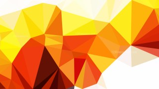Red White and Yellow Polygon Background Vector