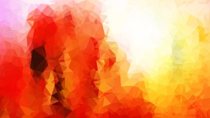 Red White and Yellow Polygon Background Graphic Design