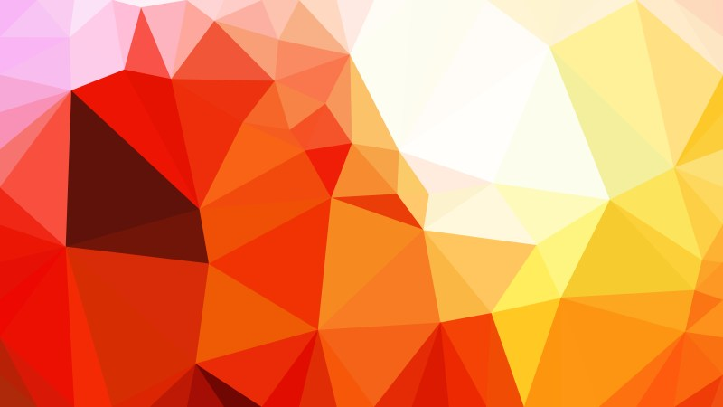 Abstract Red White and Yellow Polygon Background Template