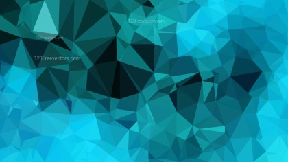 Turquoise Polygon Background Template Design