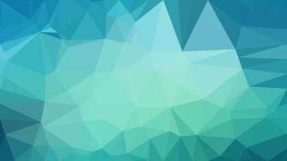 Turquoise Low Poly Background Image