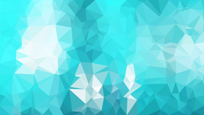 Turquoise Polygon Triangle Background Vector Illustration