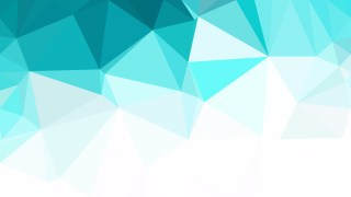 Turquoise and White Polygon Pattern Background Illustration