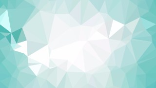 Turquoise and White Low Poly Background Template Vector Graphic