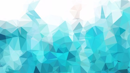 Turquoise and White Polygonal Background Template Illustrator