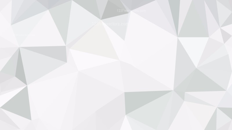 White Polygonal Triangle Background