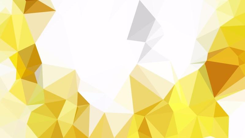 White and Gold Polygonal Triangular Background