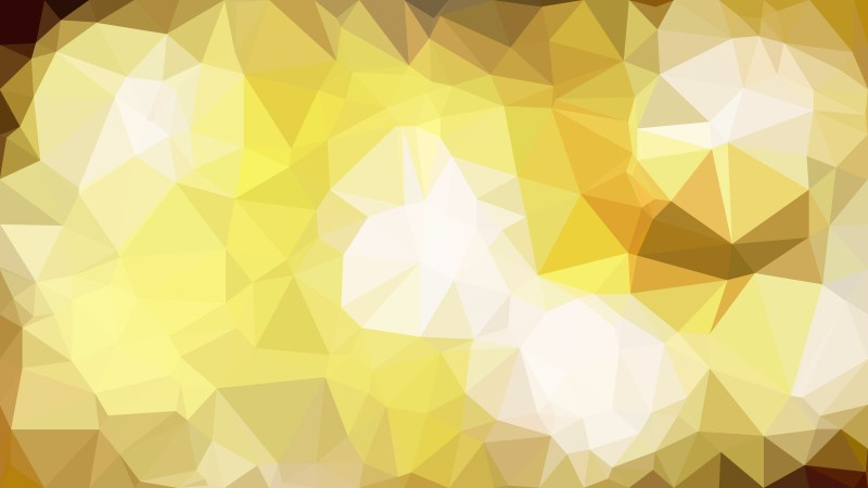 White and Gold Polygon Abstract Background