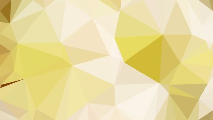 White and Gold Polygon Pattern Abstract Background