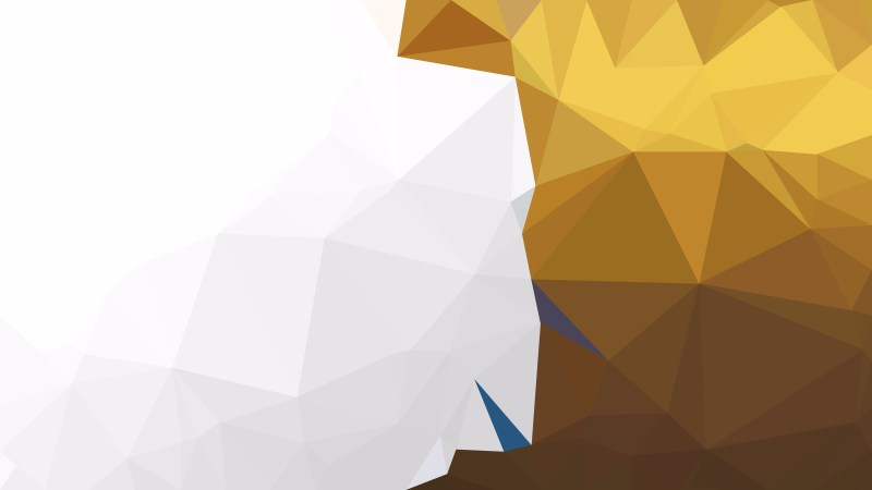 Abstract White and Gold Triangle Geometric Background Illustration