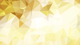 Abstract White and Gold Polygonal Background