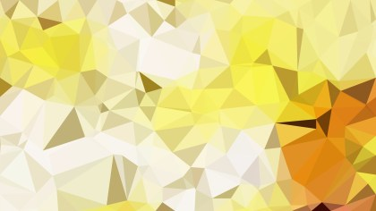 Yellow and White Low Poly Background Design