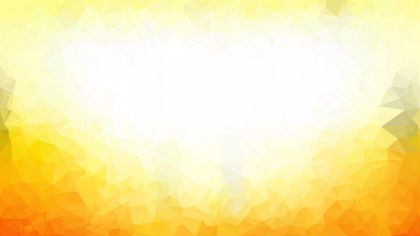 Abstract Yellow and White Polygonal Triangle Background Vector
