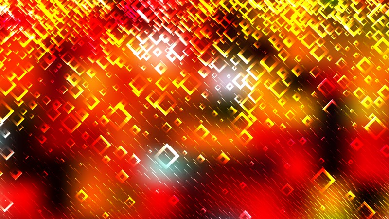 Modern Abstract Black Red and Yellow Squares Background