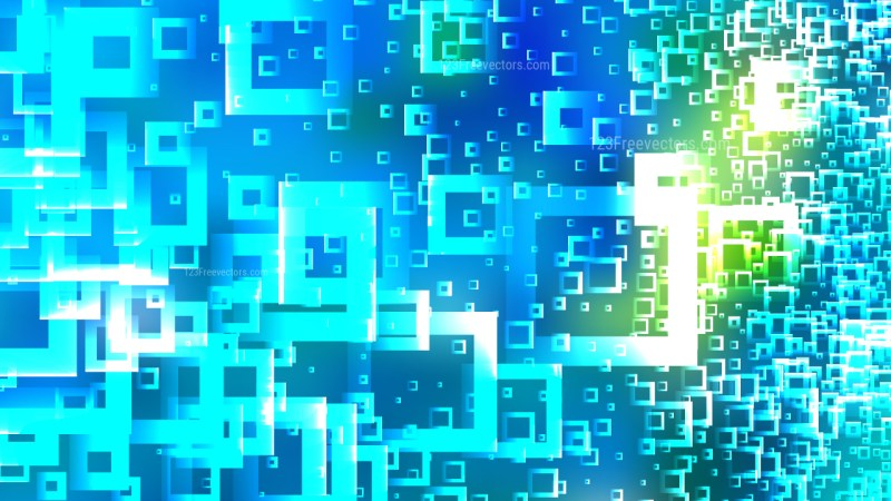 Modern Abstract Blue and Green Squares Background Design