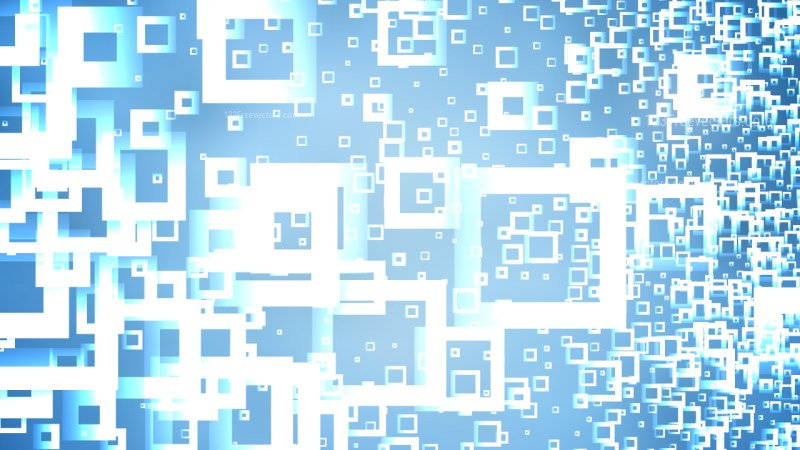 Blue and White Square Modern Background