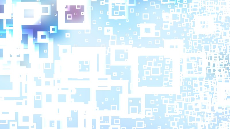 Blue and White Abstract Modern Square Background