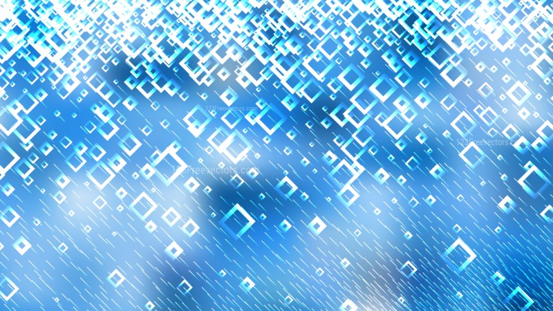 Blue and White Squares Abstract Background