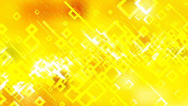 Abstract Bright Yellow Square Modern Background