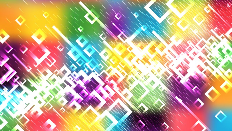 Modern Colorful Square Abstract Background Illustrator