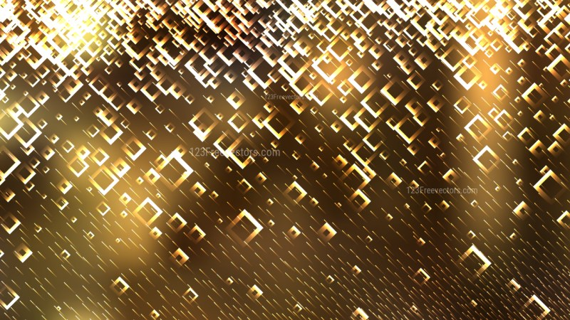 Gold Modern Square Abstract Background Vector Illustration