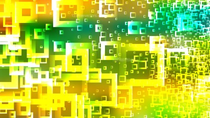 Abstract Green and Yellow Square Modern Background