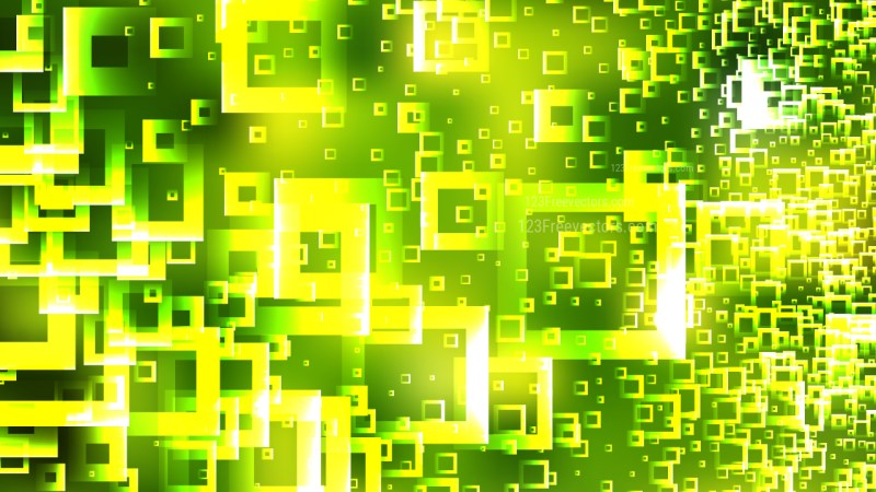 Abstract Green and Yellow Square Modern Background Vector Graphic