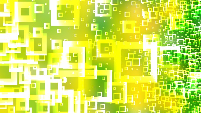Modern Green Yellow and White Square Background Vector