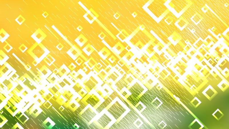 Green Yellow and White Square Modern Background Image