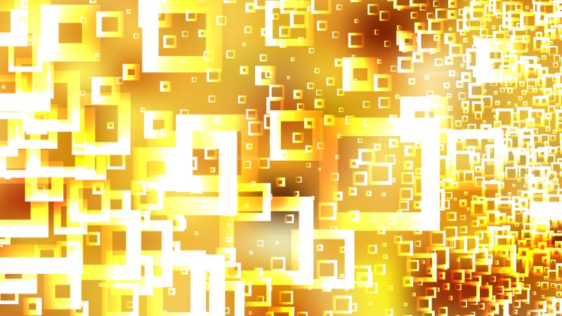 Abstract Orange and White Square Background Graphic
