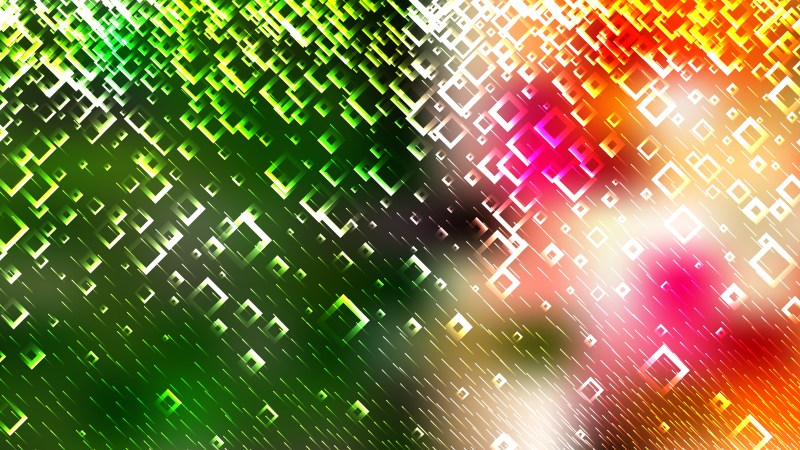 Modern Abstract Orange White and Green Squares Background Illustrator