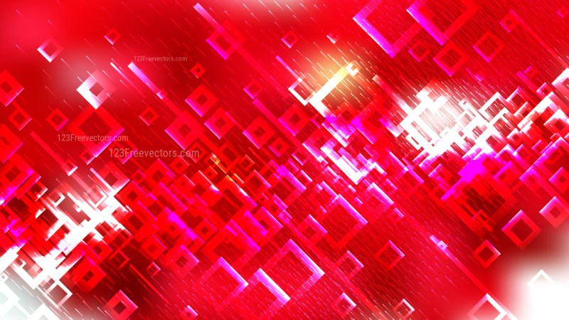 Abstract Pink and Red Square Modern Background