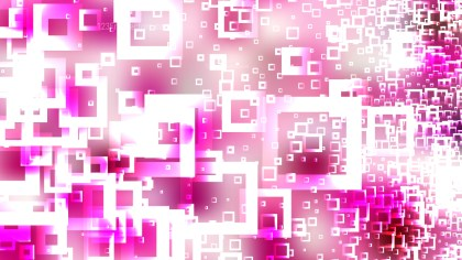 Modern Pink and White Square Background Vector Graphic