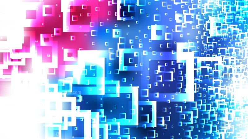 Abstract Pink Blue and White Square Modern Background