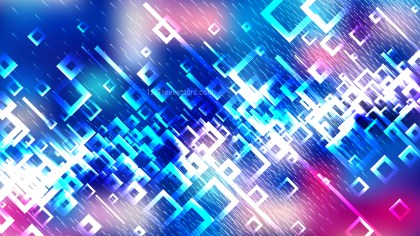 Abstract Pink Blue and White Square Background Vector