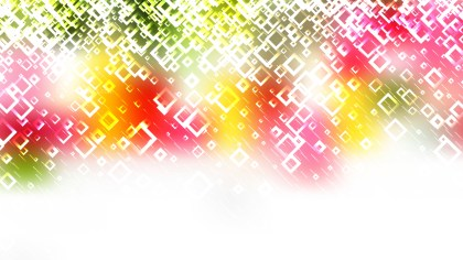 Pink Green and White Abstract Modern Square Background