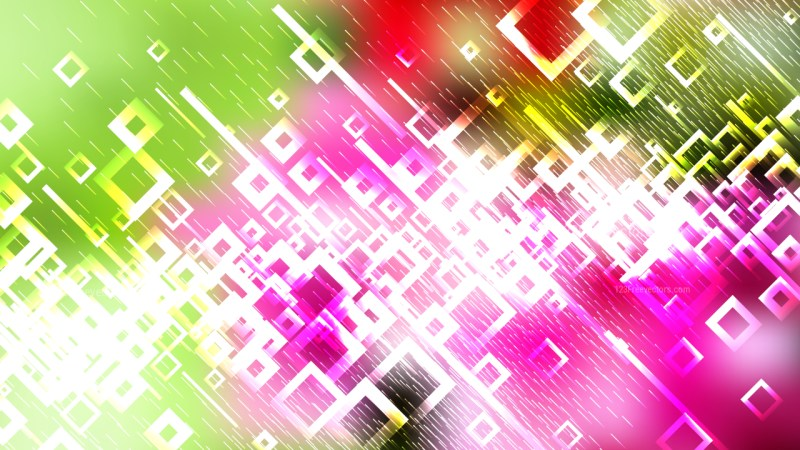 Modern Pink Green and White Square Background